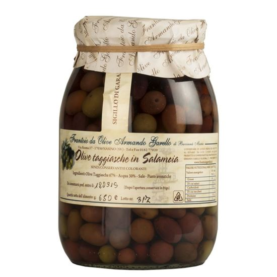 Picture of Pickled Olives variety Taggiasca