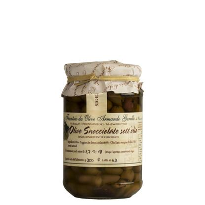 Picture of Pitted Olives variety Taggiasca in Extra Virgin Olive Oil